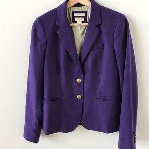 J Crew schoolboy purple blazer